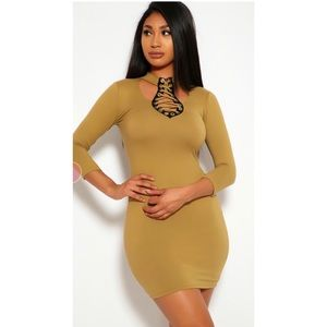 💕3 for $25  long sleeve fitted bodycon dress .
